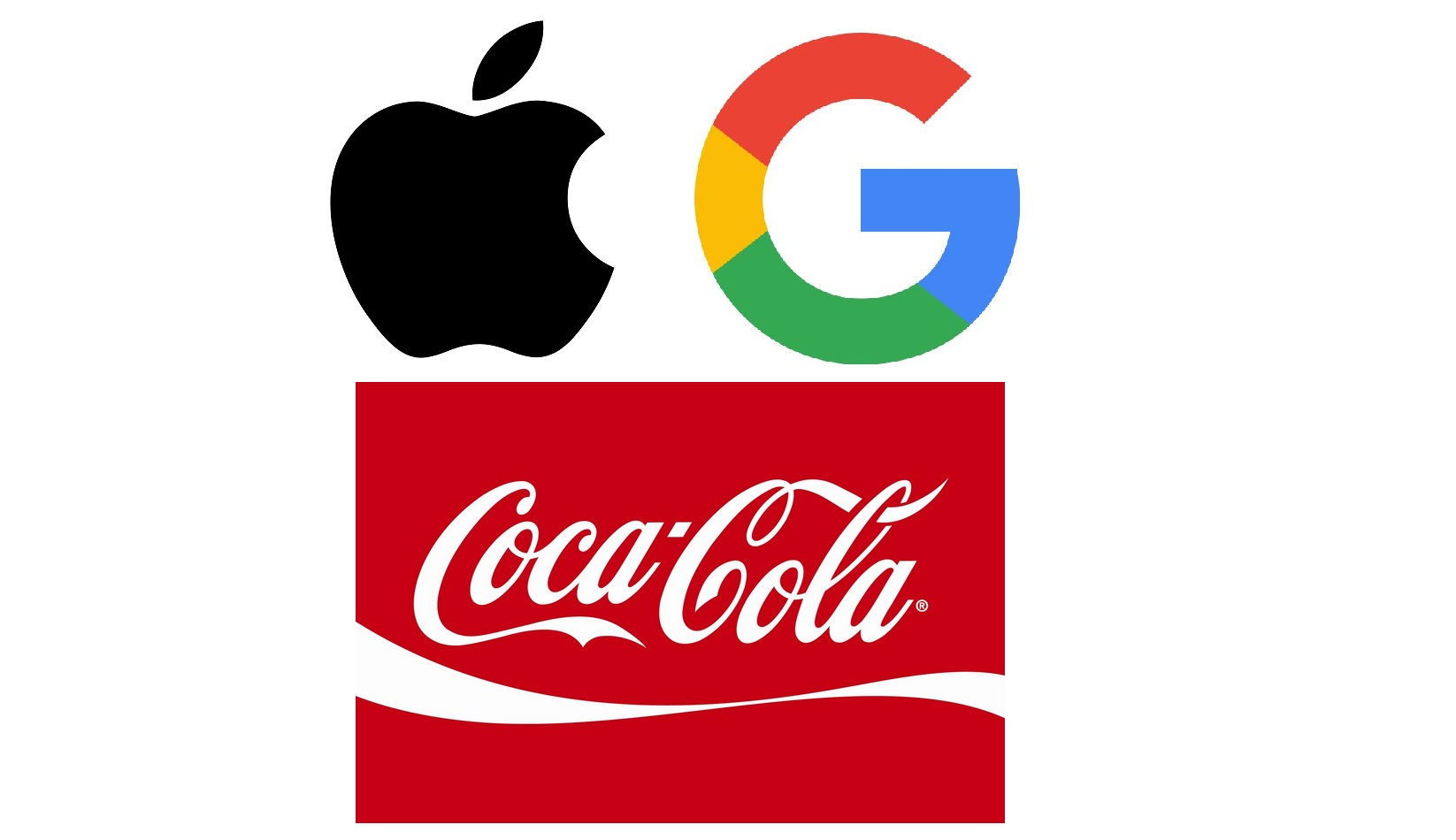 Apple Google Coca Cola