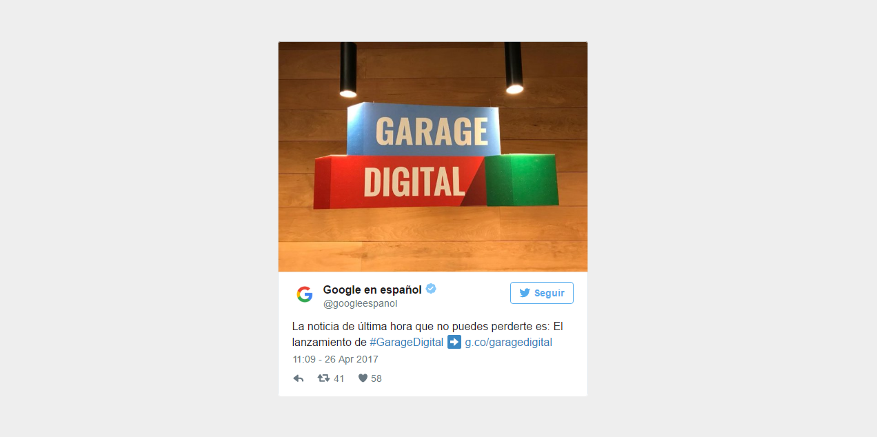Garage digital Google
