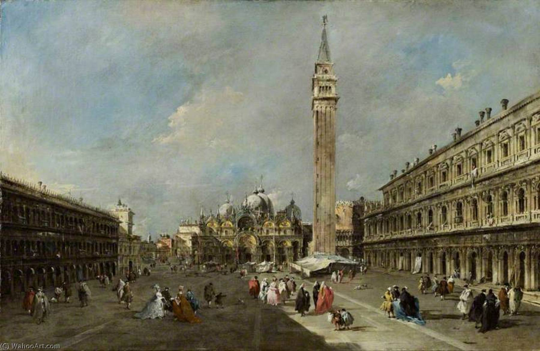 Francesco-Guardi-The-Piazza-San-Marco-Venice
